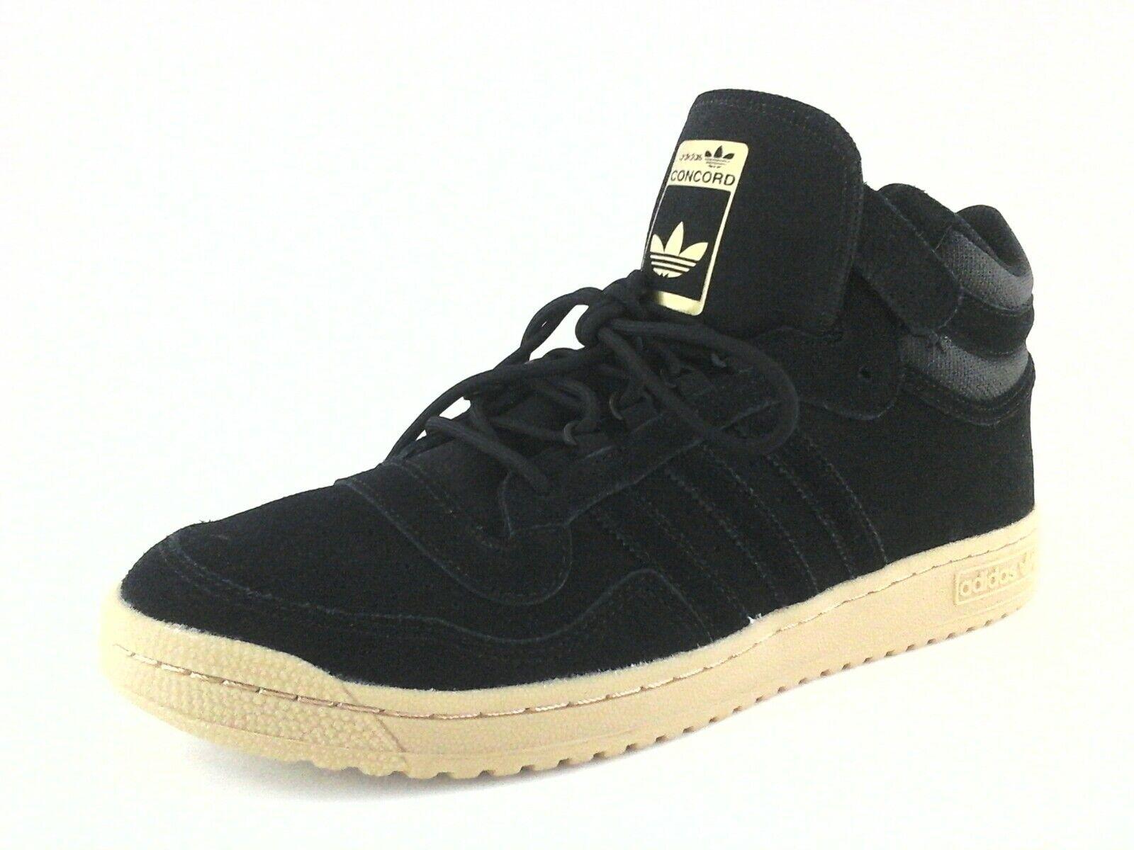 Adidas Originals Concord II BW0587 Mens Mid Top Shoes Bk Suede Gold Gum US 13