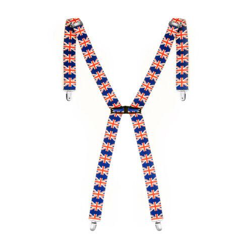 Unisex Men Braces Plain Elastic Classic Wide Heavy Duty Suspenders Adjustable