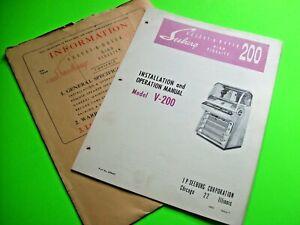Seeburg-V-200-Select-O-Matic-200-Original-Jukebox-Phonograph-Manual-amp-Envelope