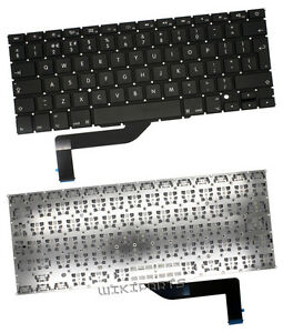 US QWERTY Clavier Noir Apple MacBook Pro A1398