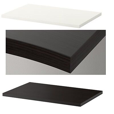 Ikea Linnmon Table Top White Black 100 Cm X 60 Pre Drilled Holes For Legs New Ebay