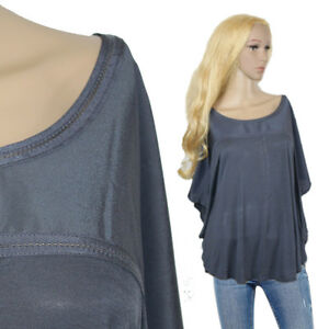 premium selection d6fb5 78d7b Details zu H&M Superstretch Oversize Jersey Bluse Poncho-Tunika  Fledermausärmel Gr.38 40