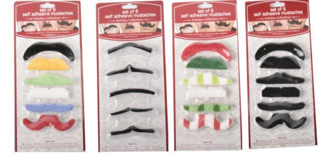 Schnurrbart 2er Set selbstklebende Bärte Mustache falscher Schnauzer Bart