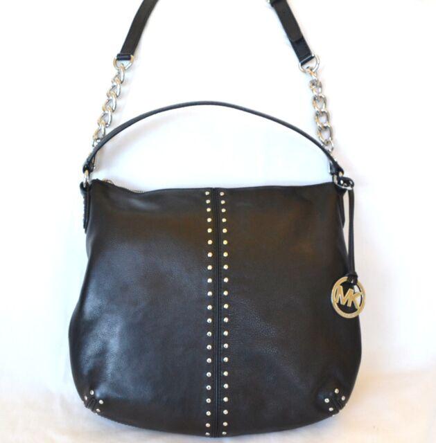 d155d4958f6ce3 Michael Kors Astor Large Shoulder Bag Removable Strap Black Leather  35t3satl3l
