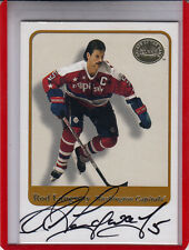 """2001-02 FLEER GREATS OF THE GAME ROD LANGWAY """"WASHINGTON CAPS"""" AUTOGRAPH AUTO"""