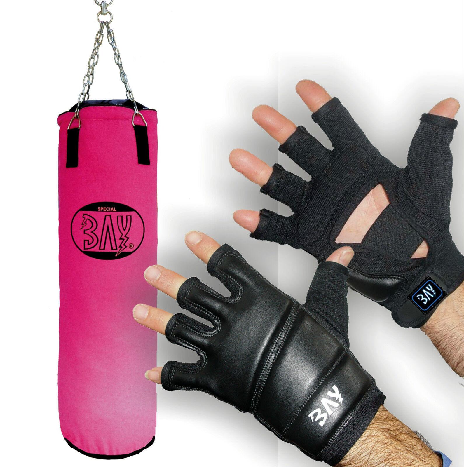 BAY® Profi Box-Set Boxsack Sandsack Punching Punching Punching Bag Boxhandschuhe 130 cm Rosa Rosa 5f45fa