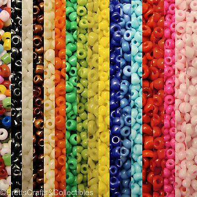 #10/0 - Spheroid Opaque Glass Seed Beads (40 grams / 1.40oz per Bag)