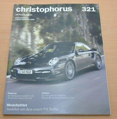 Flight Tracker Porsche Christophorus Nr. 321 Magazin 8/06 911 Turbo 911 Rs Spyder Erfrischung