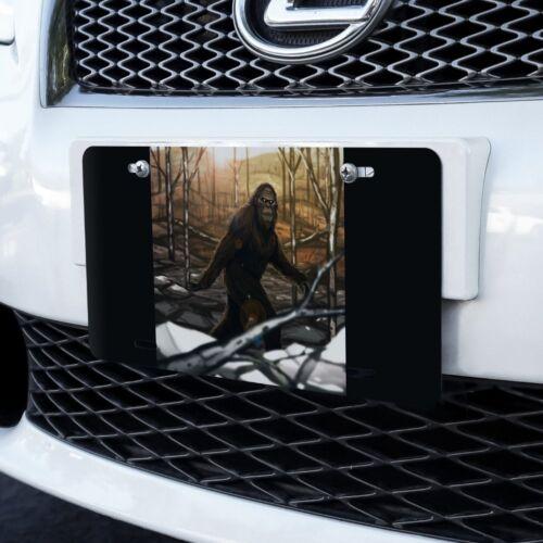 Bigfoot Sasquatch Walking in the Woods Novelty Metal Vanity Tag License Plate