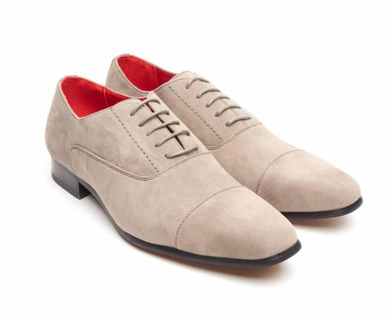 Rossellini Mario Men'S Lace Schuhes Grau Faux Suede Lace Men'S Up Pointed Casual Schuhe 9c459c