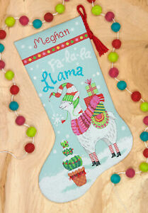 Llama Christmas Stocking.Details About Cross Stitch Kit Dimensions Llama Christmas Stocking 70 08977