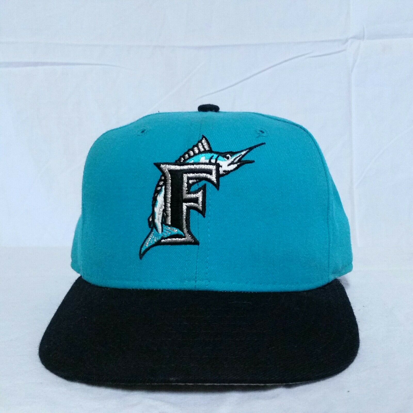 VTG Florida Marlins New Era Fitted Collection Hat 7 1/4 Diamond Collection Fitted Pro Model Cap 39609c