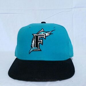 new concept 49c35 d547f Image is loading VTG-Florida-Marlins-New-Era-Fitted-Hat-7-
