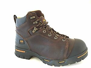 fcb926e7333 Details about Timberland PRO 52562 Endurance 6-Inch Steel Toe Men's Brown  Work Boots SZ 9.5 W