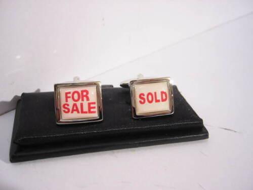 en caja de regalo nuevo Gemelos cufflinks venta con sold acero inoxidable