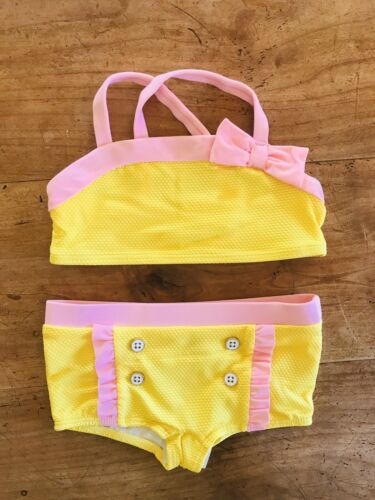 Size: 2T NWT Janie and Jack Adorable Yellow /& Pink Ruffle 2-Piece Swimsuit