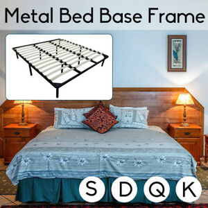 Single Double Queen King Size Metal Bed Bed Frame Mattress Base
