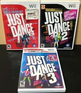 Wii-Just-Dance-Game-Bundle-Just-Dance-1-2-3-Tested-Free-Shipping