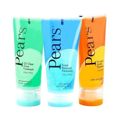 Health & Beauty Bath & Body Pears Face Wash Oil Clear & Fress Renewal & Pure And Gentle Each 60gm Pack Of 3