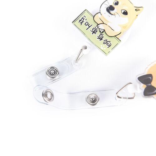 Dog Retractable Badge Reel Student Nurse Exihibiton ID Name Card Badge Holder P1