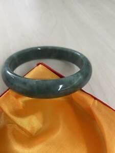 Beautiful Emerald Green Jade Bangle Bracelet Natural Real Chinese Jade Nephrite  Grade 63mm