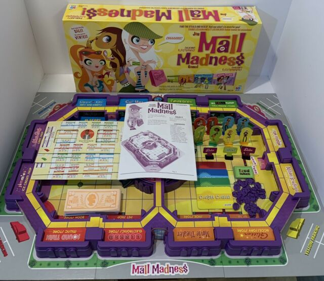 Mall Madness Talking Electronic Board Game COMPLETE Tested & Works