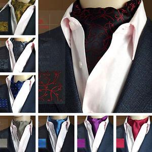 Classic-homme-jacquard-pois-liens-de-soie-longue-echarpe-foulard-ascot-cou-liens-messieurs