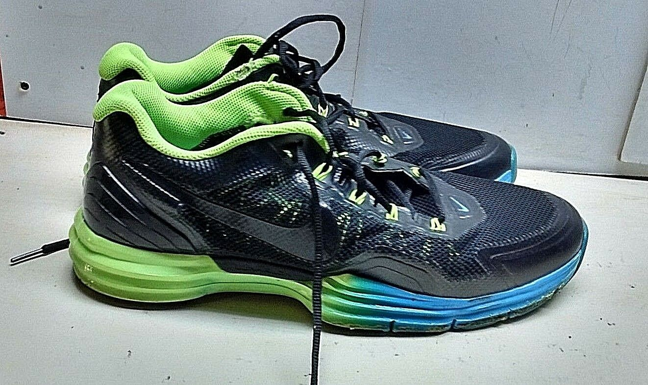 Nike Lunar Tri Men's Black Green Synthetic Laces Athletic Sneaker shoes 13M 47.5