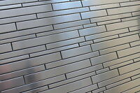 Stainless Steel Random Strip Mosaic Tiles For A Kitchen Backsplash/accent Wall