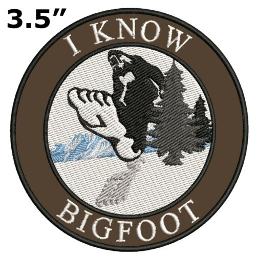 Bigfoot Lives Patch I BELIEVE Sasquatch in the Forest Iron on I KNOW