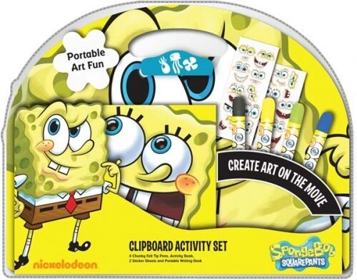 Spongebob Squarepants Clipboard Activity Set Stationery Brand New Gift
