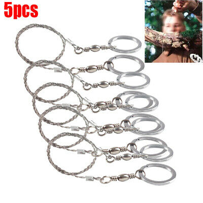 Hiking Camping Stainless Steel Wire Saw Emergency Travel Survival Gear Tool XJP
