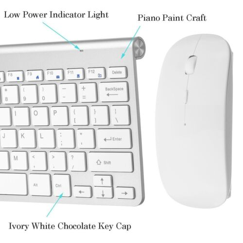 Wireless Keyboard Mouse for SAMSUNG V24F39S Smart 24 Curved LED TV Su