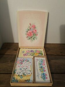 Vintage-Greeting-Card-1950s-Lustre-Lovelies11-Card-Assortment-w-Envelopes-amp-Box