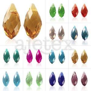 10pcs-DIY-Crystal-Teardrop-Top-Drilled-Fashion-Jewelry-Making-Beads-6x12-8x13mm