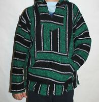 Assorted Youth Boys Baja Hoodie Hippie Surfer Mexican Poncho Sweater Size 12-14