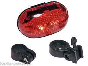 Fanale-Faretto-Posteriore-Bici-MTB-City-5-LED-Tubo-Reggi-Sella-IMPERMEABILE