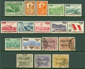 EDW1949SELL-PERU-1935-51-Sc-316-17-C38-C94-102-VF-MOG-Also-389-93-Cat-77