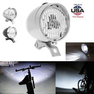 6 LED Vintage Bicycle Bike Light Headlight Front Retro Head Fog Lamp Clesr Lens