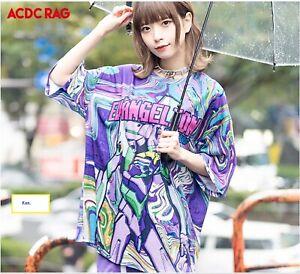 EVANGELION x ACDC RAG Unit 01 Nylon Zipper Jacket Harajuku Japan Cosplay New F//S