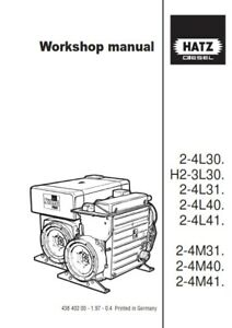 hatz diesel engine h2 3l30 2 4l30 l31 l40 l41 2 4m31 m40 m41 rh ebay ie Otawwa Workshop Manuals BMW Workshop Manual