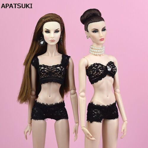 "1Set Black Lace Underwear For 11.5/"" Doll Bra Brief 1//6 Knickers Doll Accessories"