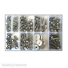 Assorted Metric Stainless Steel Socket Cap Head Machine Screws, Nuts & Washers