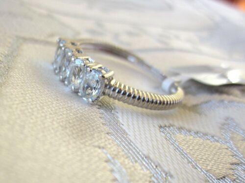 Espirito Santo aigue-marine quatre-Stone Ring//Taille 10//925 Sterling Silver