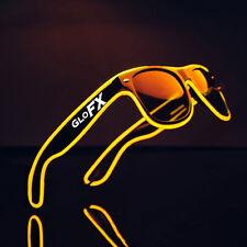 Yellow EL Wire Sunglasses LED Rave Light Up Flashing EDM Luminescence Party Club