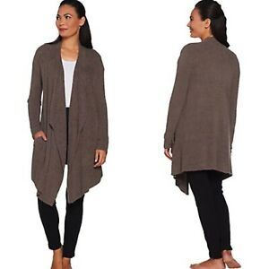 Barefoot-Dreams-Cozy-Chic-Lite-Island-Wrap-Cardigan-Size-XL-Cocoa-Taupe-New