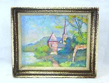 Pastell Bild Gemälde um 1900 Godinne Belgien