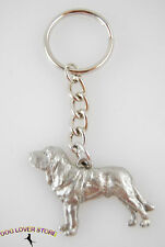 Bloodhound Keychain Pewter Key Chain Ring