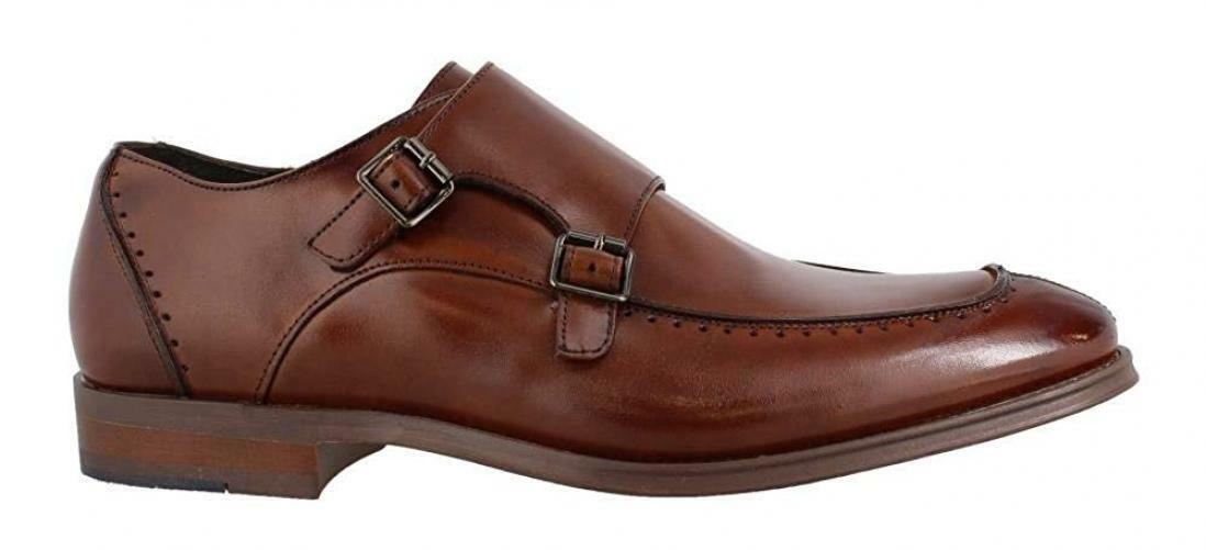 Stacy Adams Para Hombre Baldwin Moc Toe Doble Monje Correa Mocasín