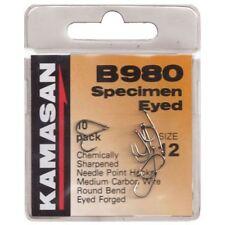 50 x Kamasan B980 Eyed Barbed.Size 8 Hooks.Strong Hook for big baits /& Big Fish